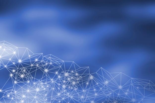 Doppelbelichtung business-netzwerk-konzept