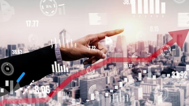 Doppelbelichtung des geschäftsgewinnwachstums konzeptionell