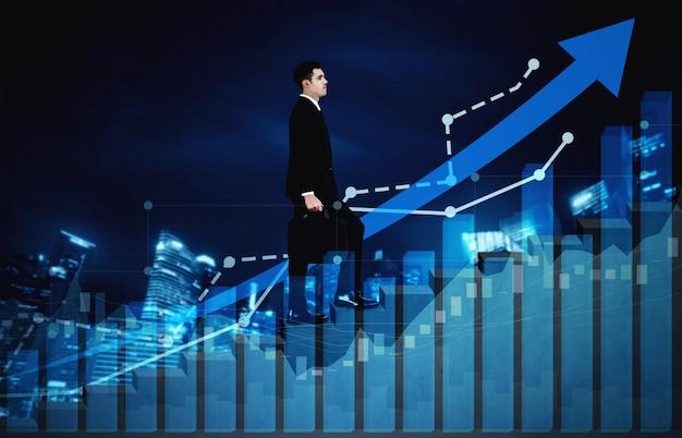 Doppelbelichtungsbild des gewinnwachstums