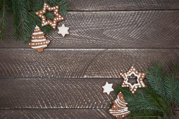 Doppelte dekoration von weihnachtsschmuck