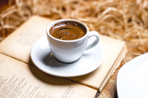 Doppelte espresso-seitenansicht
