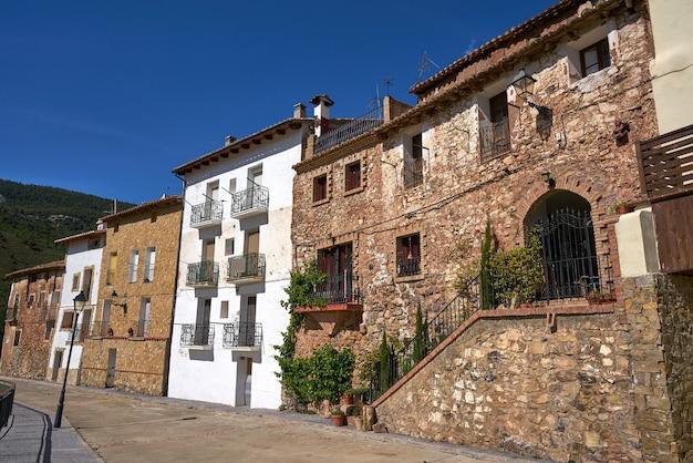 Dorf arcos de las salinas in valencia spanien