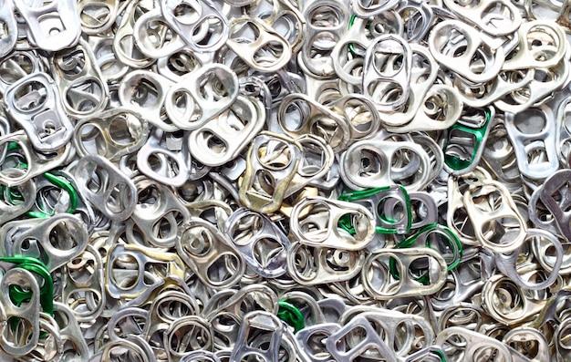 Dosenöffnerring aus aluminium pop tops ziehen