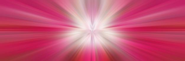 Drachenrosa strahlen mit weißer zentrierter lichtperspektive fokussierten linien auf den mittelpunkt