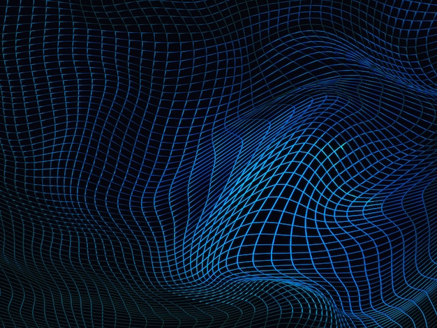 Drahtgitter blau