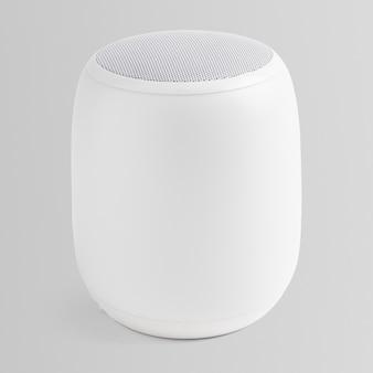 Drahtloses digitales gerät mit weißem smart-lautsprecher