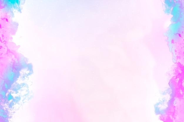 Dramatischer pastell-3d-feuer brennender randrahmen