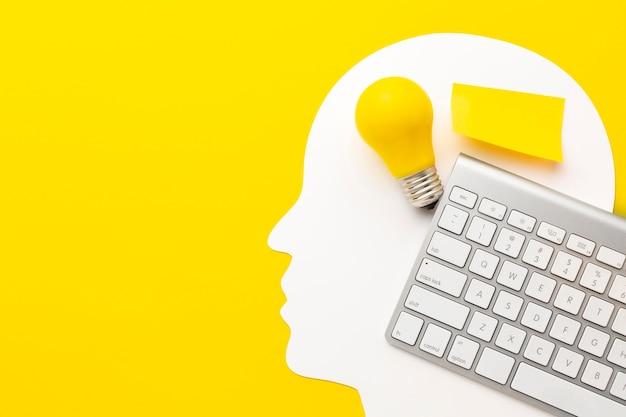 Draufsicht abstrakte innovationszusammensetzung