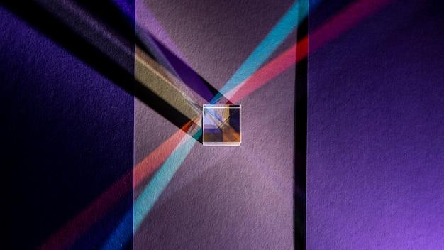 Draufsicht abstrakte lichter prismeneffekt