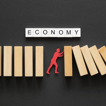 Draufsicht abstrakte zusammensetzung der finanzkrise