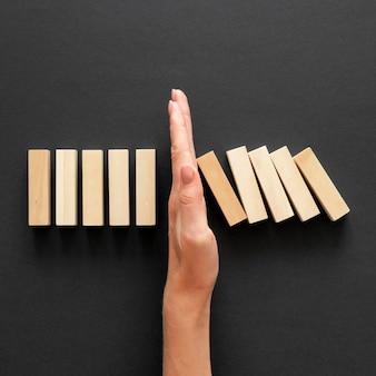 Draufsicht abstraktes sortiment der finanzkrise