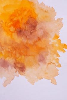 Draufsicht aquarell auf papier