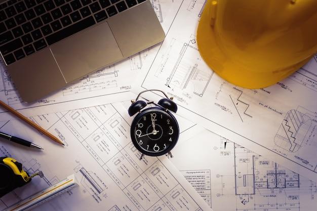Draufsicht-architektenwerkzeuge