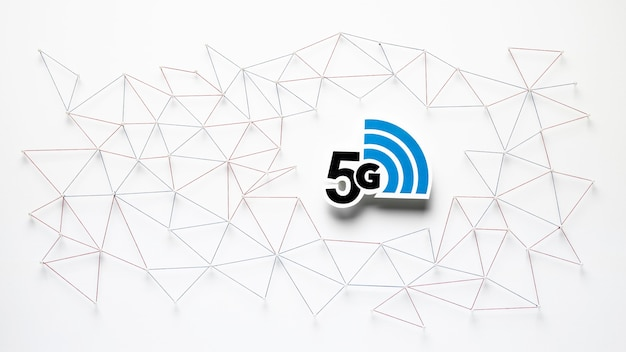 Draufsicht auf 5g internetkommunikation