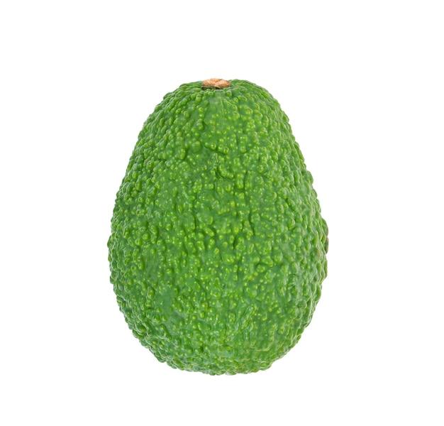 Draufsicht auf avocado isoliert auf weißem hintergrund