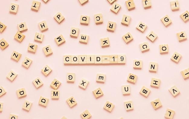 Draufsicht auf das covid-19-konzept