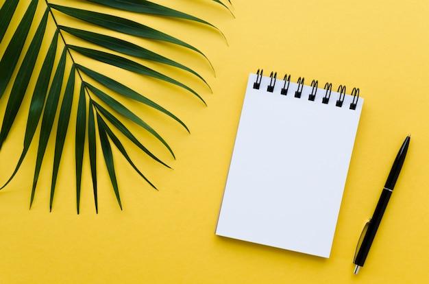 Draufsicht auf desktop mit notebook und anlage