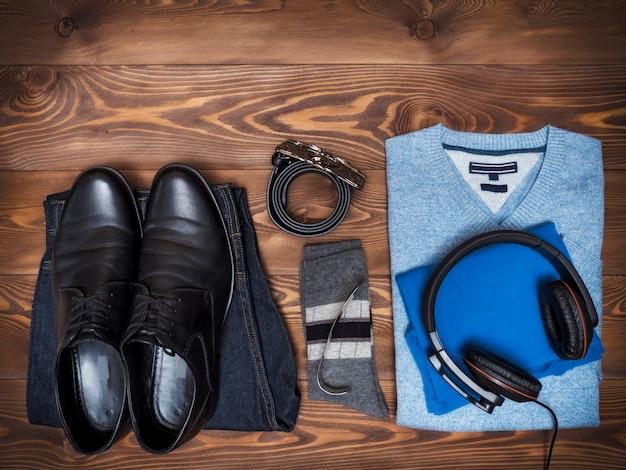 Draufsicht auf freizeitkleidung