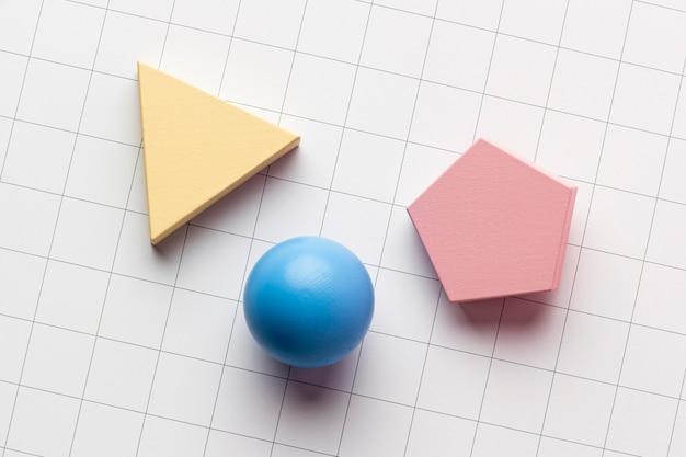Draufsicht auf geometrische formen