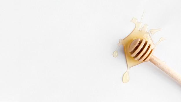 Draufsicht auf honig mit kopierraum