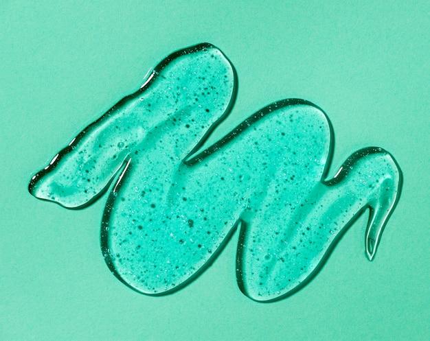 Draufsicht auf hydroalkoholisches gel
