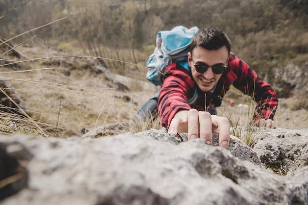 Draufsicht auf rampler kletterer