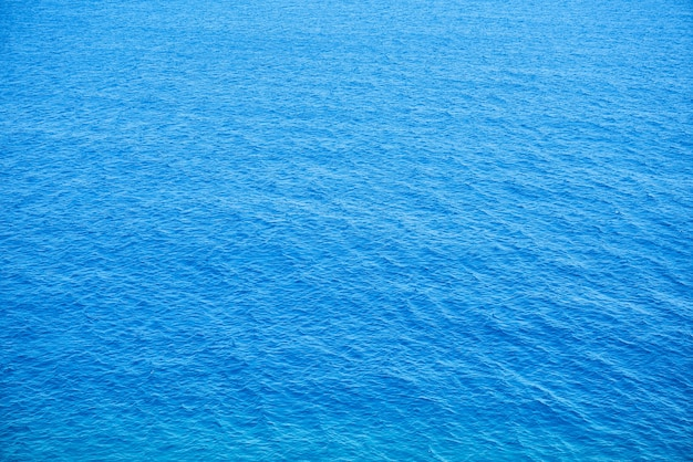 Draufsicht auf ruhigen blauen meer