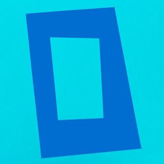 Draufsicht azul dekorativer rahmen