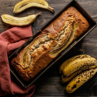 Draufsicht bananenbrötchen