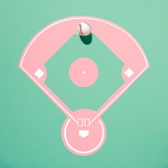 Draufsicht baseballplatz