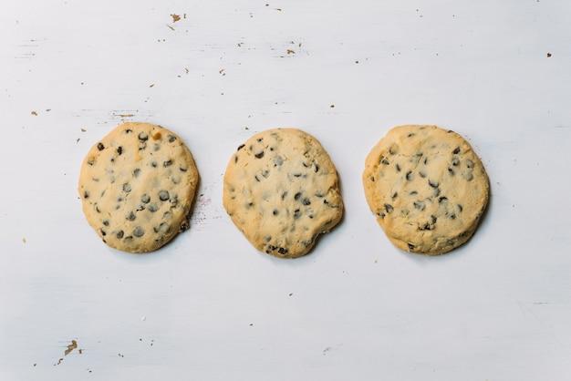 Draufsicht cookies