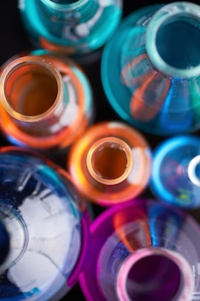Draufsicht der chemischen forschung