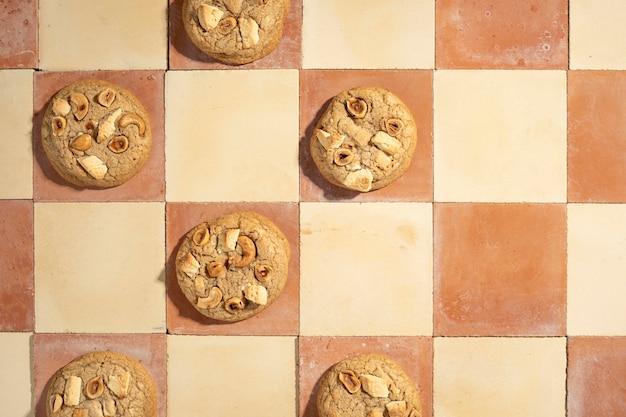Draufsicht der cookies-anordnung