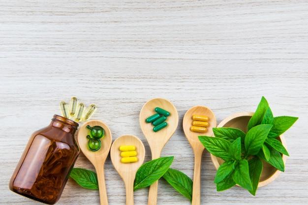 Draufsicht der vitaminkapsel