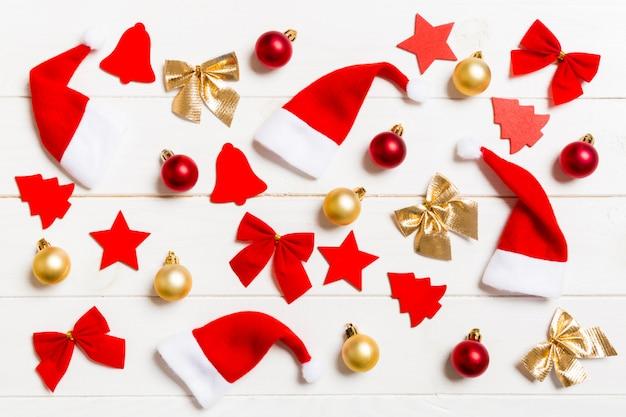 Draufsicht der weihnachten spielt zusammensetzung