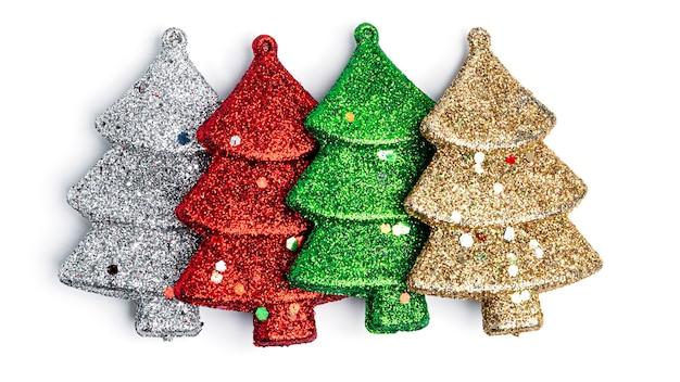 Draufsicht der weihnachtsverzierungen