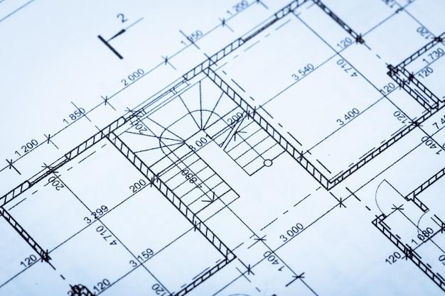 Draufsicht des architekten worplace.