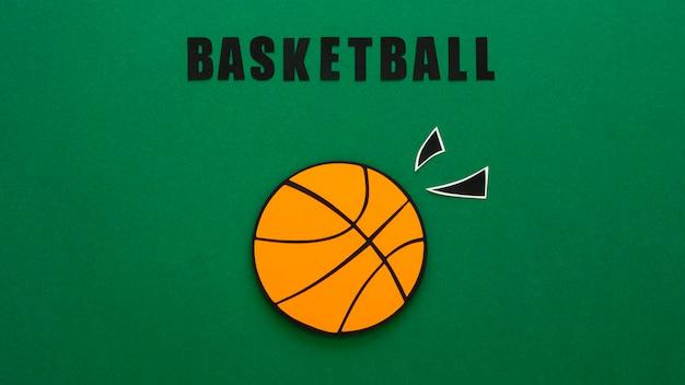 Draufsicht des basketballs