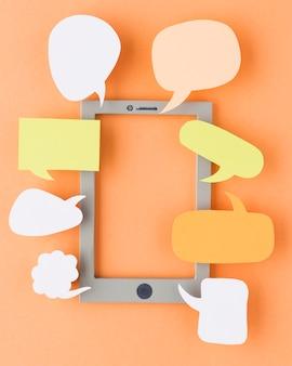 Draufsicht des bildungstagkonzepts mit kopierraum