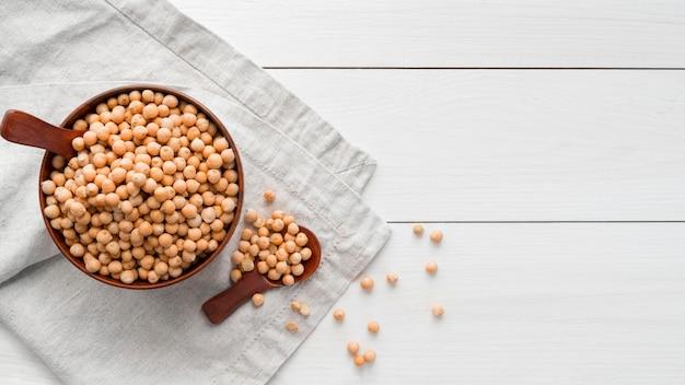 Draufsicht des bohnennahrungsmittelkonzepts