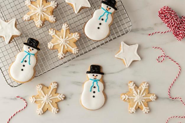 Draufsicht des cookies-anordnungskonzepts