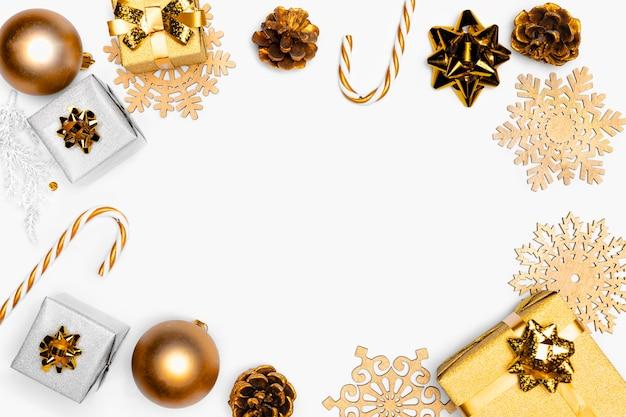 Draufsicht des eleganten weihnachtskonzepts