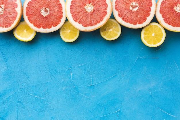 Draufsicht des fruchtkonzepts mit kopierraum
