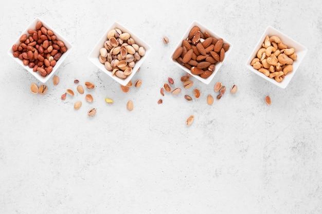 Draufsicht des köstlichen nusskonzepts
