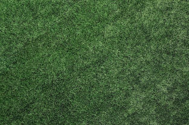 Draufsicht des kunstrasens, beschaffenheit des grünen kunstrasens.