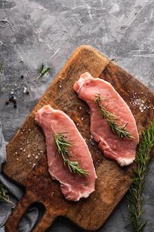 Draufsicht des rohfleischkonzepts