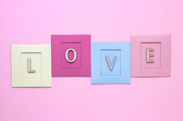 Draufsicht des schönen valentinstagkonzepts