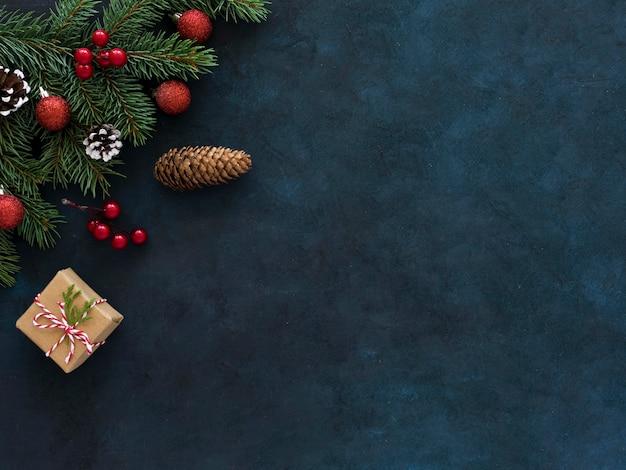 Draufsicht des schönen weihnachtskonzepts