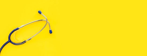 Draufsicht des stethoskops für weltherztag