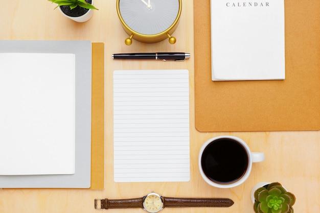 Draufsicht des stilvollen briefpapiers
